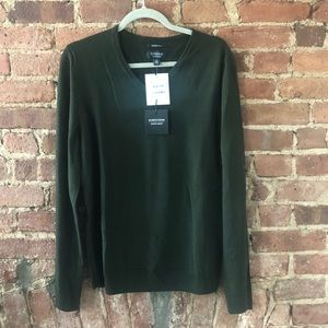 Men's Merino hunter green sweater